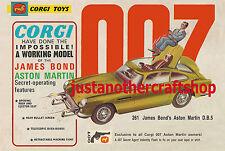 Corgi Toys 261 James Bond Aston Martin DB5 1966 Large Size Poster Leaflet Sign