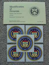 ATF IDENTIFICATION OF FIREARMS (MACHINE GUNS, Etc) IN NATIONAL FIREARMS ACT 1984