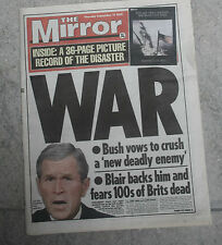 TWIN TOWERS   UK NEWSPAPER AND SUPPLEMENT BIN LADEN etc v  NEW YORK 9-11