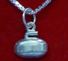 @ Curling sport pendant Sterling silver charm Jewelry @