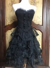Betsey Johnson Black Swan Tuxedo Dress