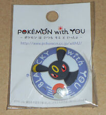 Japanese Pokemon Center Limited Pokemon With You Tin Can Badge - Umbreon