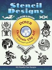 Stencil Designs CD-ROM and Book (Dover Electronic Clip Art)-ExLibrary