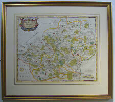 Hertfordshire: original antique map by Robert Morden, c1695