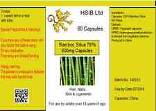 Pure NATURAL HIGH QUALITY Vegetarian Silica Capsules x30 Bamboo Extract HSIB Ltd