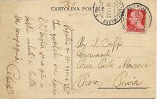 P7948   Amb. Roma-Firenze-Milano su cartolina spedita da Napoli, 1935