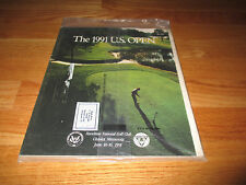 1991 US Open HAZELTINE NATIONAL GOLF CLUB Chaska MN Program PAYNE STEWART Winner