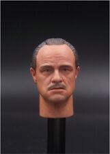 """1/6 Marlon Brando The Godfather Corleone Head Sculpt For 12"""" Male Figure Body"""