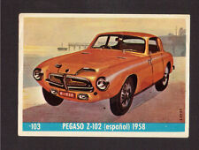 Pegaso Z102 Scarce Car Automobile 1960s Card from Spain #103