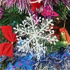 60pcs Christmas Holiday Party White Snowflake Charm Festival Ornaments Decor