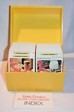Vintage Betty Crocker Recipe Card Library - Yellow Box 1971 Like NEW Book Retro