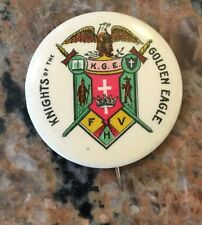 1.75 Knights Of The Goldeneagle Keystone Badge Company Reading PA Pin back