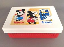 New Bento Mickey Minnie Donald Folding Lunch Box Sandwich Case  Free Shipping