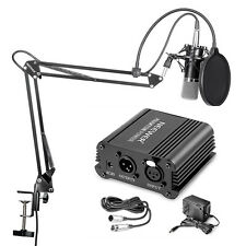 Neewer NW-700 Microphone&NW-35 Stand&NW-3 Pop Filter&48V Phantom Power Kit