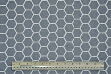 1/2 yard cotton quilt fabric Gray Honeycomb home decor sewing quilting crafting