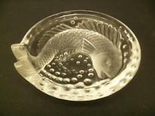 "Lalique Crystal Fish Dish 6 1/2"" diameter  Signed"