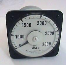 GE General Electric AC 8AB 18V7AK1 Volt Meter 0-3000 FSV 150