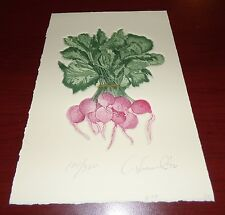 RADISHES SIGNED LIMITED EDITION ETCHING FLOWERS 108/300