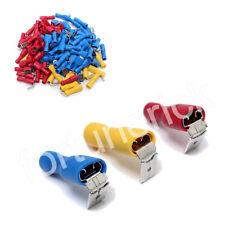 Kabelschuhe Set Flachstecker Flachsteckhülsen 6,3mm Sortiment 0,5-6,0mm 100Stück
