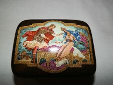 Sleeping Beauty Black Lacquer Russian Ballet Music Box Plays Sleeping Beauty