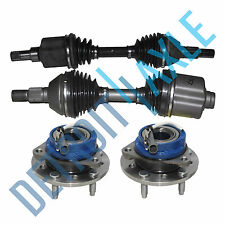 2 Front LEFT & RIGHT CV Axle Shaft + 2 NEW Wheel Hub and Bearing Malibu Grand AM