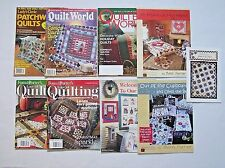 ✔️ Mixed Lot of 9 Quilt Quilting Books Magazines Patterns Fons Porter Applewood