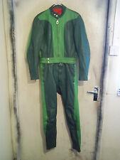 VINTAGE 70'S HARRO IN PELLE MOTO 2 Pezzi Suit Giacca Taglia 38 TRACK giorni
