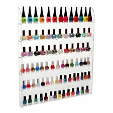 (102 Bottles) 6 Shelf Pro Clear Acrylic Nail Polish Rack / Salon Wall Mounted
