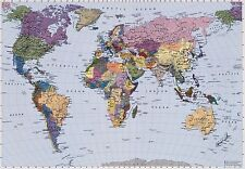 WORLD MAP Photo Wallpaper Wall Mural MAP of the WORLD  Made in Germany! 270x188