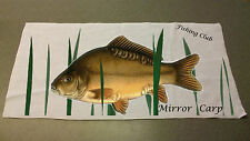 Mirror Carp Angling hand towel personalised with name or club