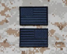 Covert United States Flag Patch Set Police SWAT Black Ops CIA SAD Hook Backing