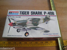 "vintage Monogram Tiger Shark P-40B Flying Tigers model kit ""China Doll"""