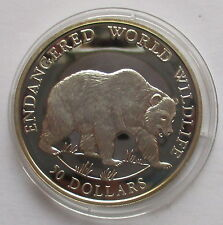 Cook Islands 50 dollaro 1990 PP, Endangered World Wildlife, Grizzly Bear