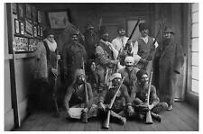 Old Photo.  Romania.  Group of Men with Rifles