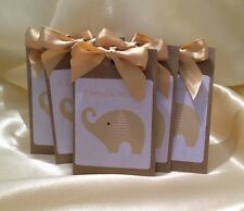 10 X Tea Bag Baby Shower Favours neutral, Gold or Silver.