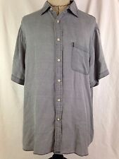 NAT NAST Mens Shirt XL Size Luxury Originals Short Sleeve Silk Blend Lounge Club