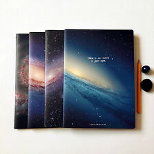 """The Universe"" Pack of 4 Lined Notebook Workbook Big Study Diary Planner Journal"