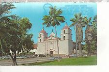 Mission Santa Barbara  Founded 1786  Santa Barbara   CA  Chrome Postcard 2217