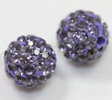 10Pcs Czech Crystal Micro Pave Disco Ball Round Loose Beads Bracelet Spacer