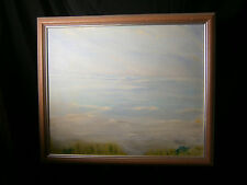 ROSS ARTIST ORIGINAL ART PAINTING SEASCAPE OCEAN BEACH SIGNED LANDSCAPE SEA AT 3