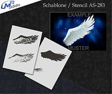 Step by Step Airbrush Schablone AS-283 M Flügel ~ Tattoo Stencil ~ UMR-Design