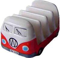 Red VW Volkswagen Kombi Ceramic Breakfast Toast Rack VAN