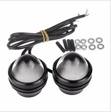 2xCar White Yellow 5W CREE LED Fish Eyes Projector Fog Light DRL RunningDaytime