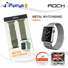 New ROCK 42mm Stainless Steel  Mesh Band Metal Watchband for Apple Watch iWatch