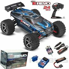 Traxxas 71054-1 E Revo 1/16 4WD Brushed Truck Blue RTR w/ TQ Radio / iD Battery