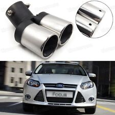 Car Exhaust Muffler Tip Tail Pipe End Trim Silver for Ford Focus 2011-2016 #1018
