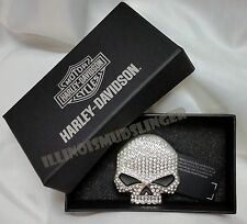 Harley Davidson Belt Buckle Crystal Bling Willie G Skull by LODIS womens