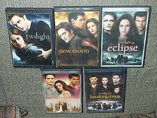 Twilight + New Moon Eclipse Breaking Dawn Part 1 & 2 DVD's DEs +Special Editions