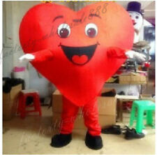 Halloween Red Love Heart Mascot Costume Christmas Valentine Party Dress Adult