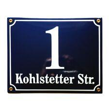 Nummernschild 20x25cm Hausnummer individuell Projekt 10 Jahrige Garantie Emaille